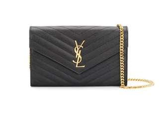 YSL - Saint Laurent Monogram Chain Wallet