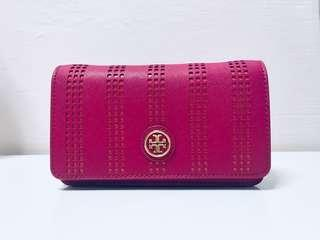 Tory Burch - Robinson Perf Mini Bag (Carnation Red)