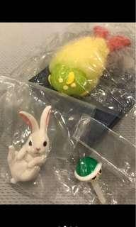 🚚 炸蝦河豚軟軟扭蛋、可愛小白兔扭蛋、瑪莉歐綠色烏龜殼防塵塞扭蛋