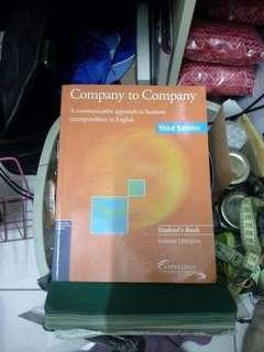 Companh to company a communication approach to business correspondence in english third edition