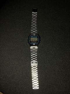 Casio A-168 Stainless Silver Illuminator Watch