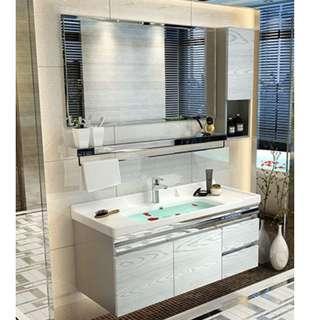 Vanity Cabinet, vanity top and basin cabinet with basin tap, rain shower rainshower renovation plumbing, interior designer, toilet accessories / bathroom accessories / towel rack / bathtub / shampoo rack / mixer tap / plumber / faucet, basin tap /