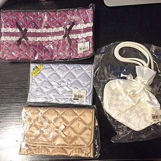 NaRaYa 化妝袋、小手袋、紙巾盒套