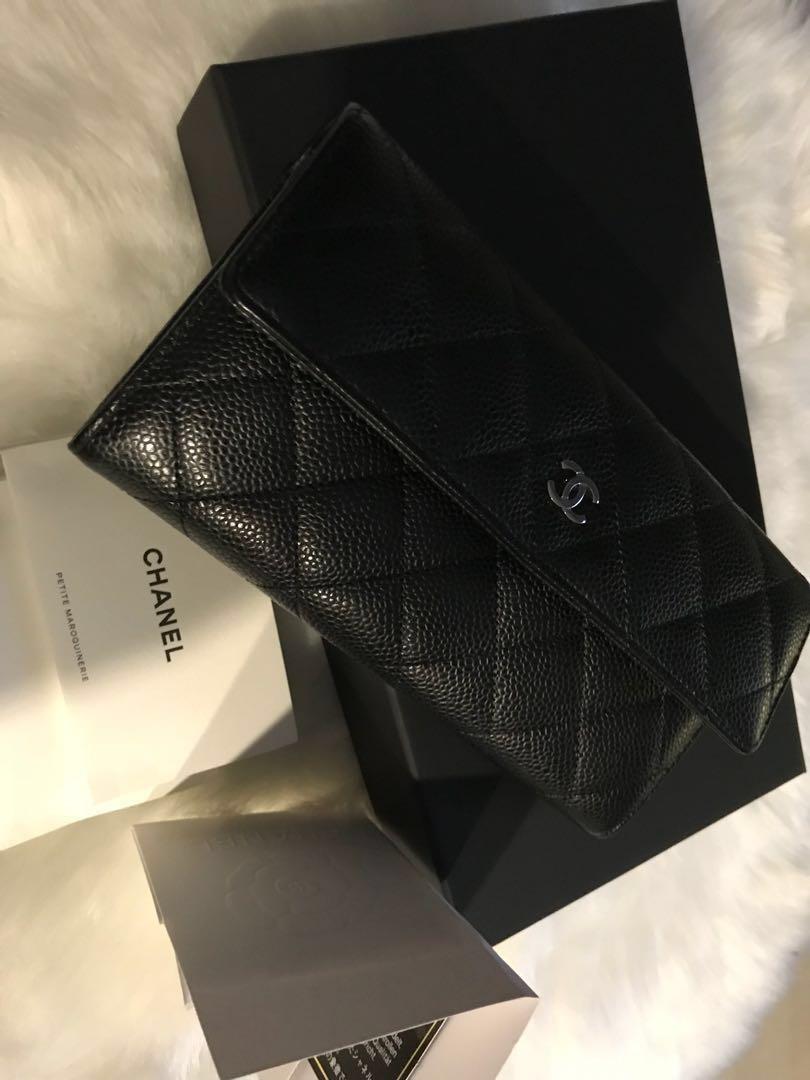 a67cc8ec0767 💯 % Chanel Long wallet caviar, Luxury, Bags & Wallets, Wallets on ...