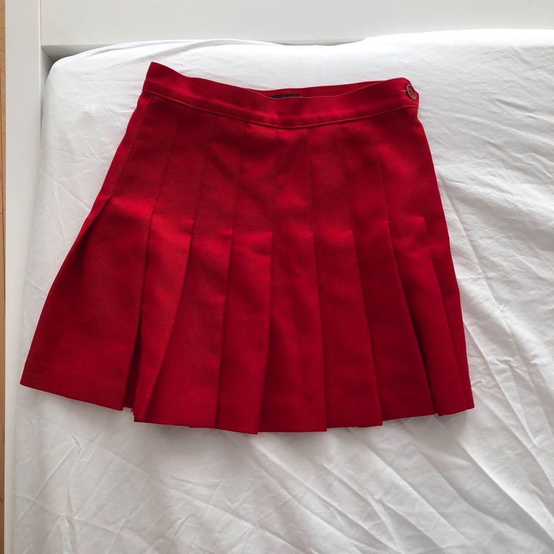 AA Red tennis skirt XS