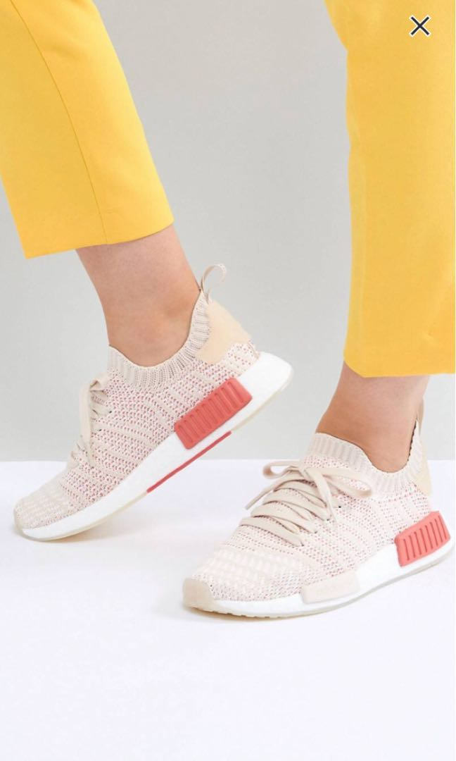 dd68ede6ec4d9 Adidas originals NMD R1 Stealth Primeknit Trainers in off white ...