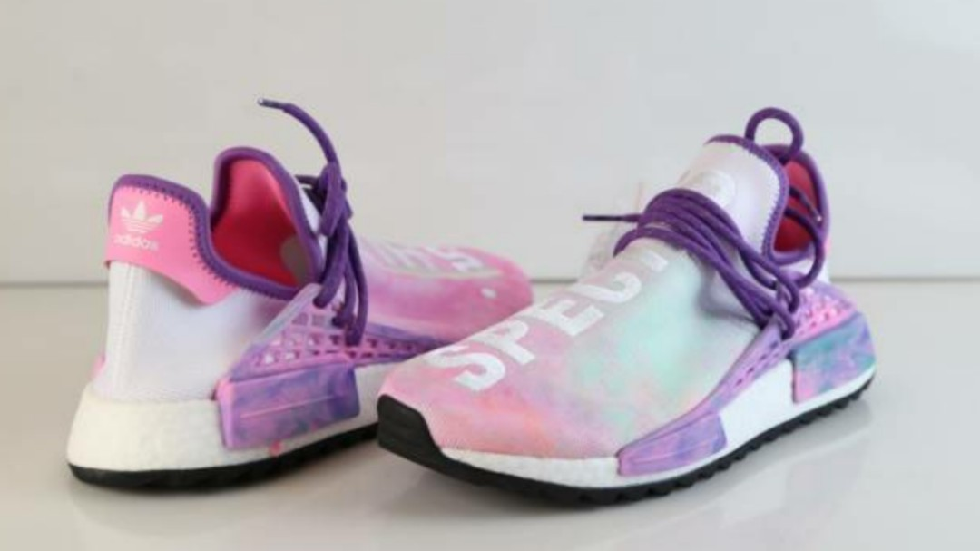 the latest 46d30 96b28 Adidas Pharrell Williams Pink Glow Hu Holi Human Race NMD MC AC7362, Mens  Fashion, Footwear, Sneakers on Carousell