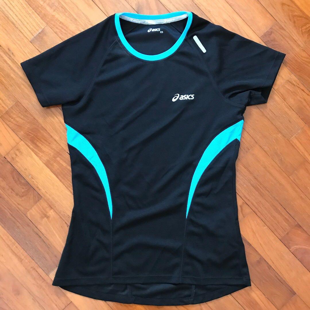 d1f15f753 Asics Women's Dri Fit Running T Shirt XS (UK 4) Black and bright ...