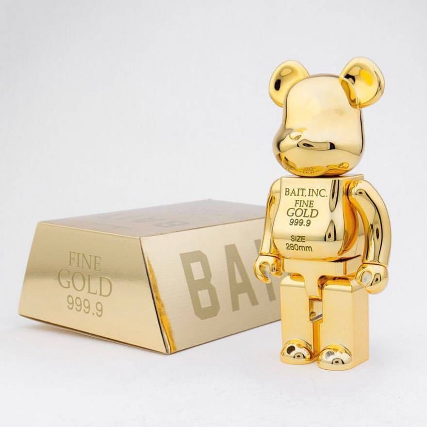 e8130ee5 Bait X Gold bearbrick 400%, Toys & Games, Bricks & Figurines on ...