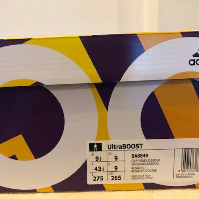 2e97430ba BNIB Adidas Ultra Boost 3.0 Mystery Grey BA8849 (US 9.5 UK 9 EU 43 1 ...