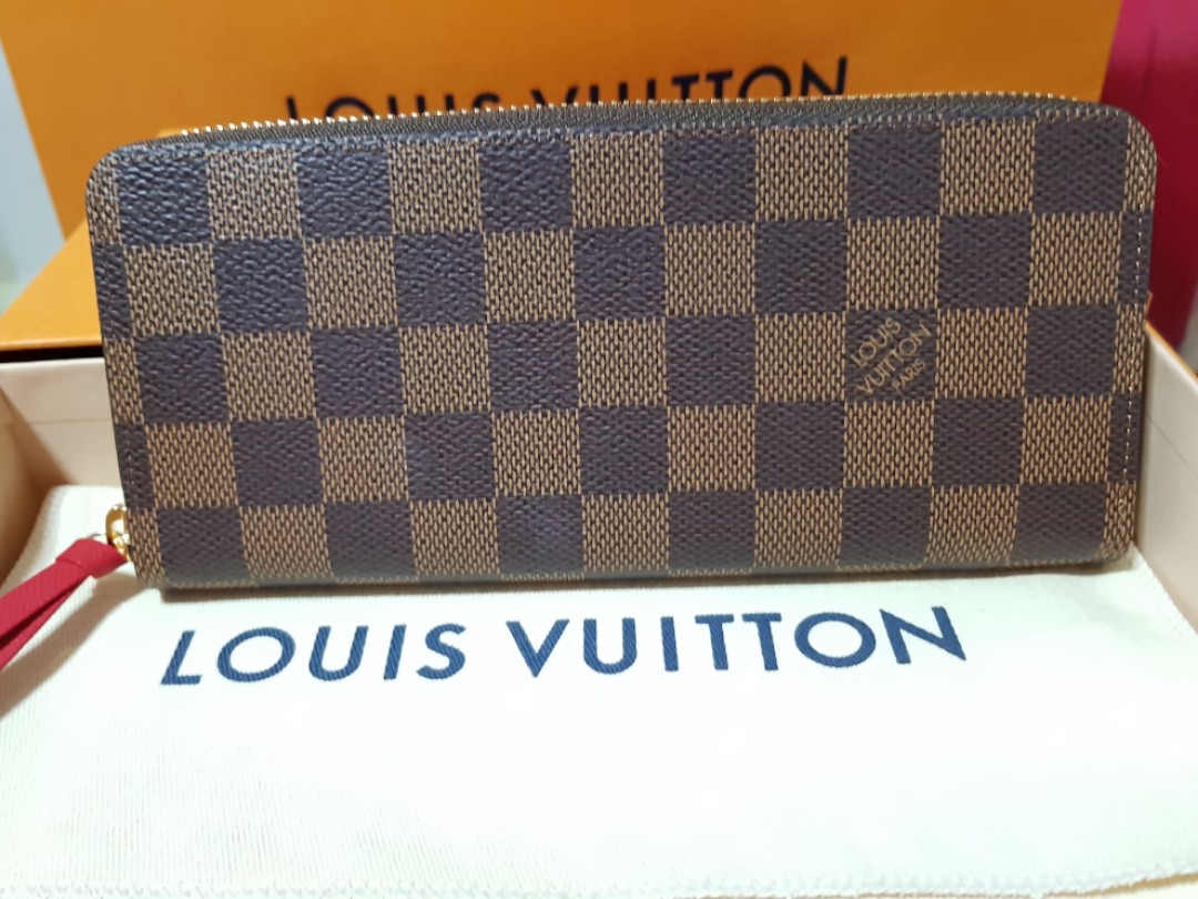 fc321390b7cf Louis Vuitton Clemence Wallet in Damier Ebene(N60534)