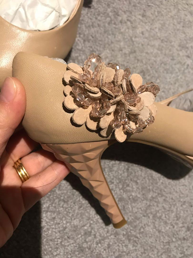 Brand NEW nude colour leather high heels