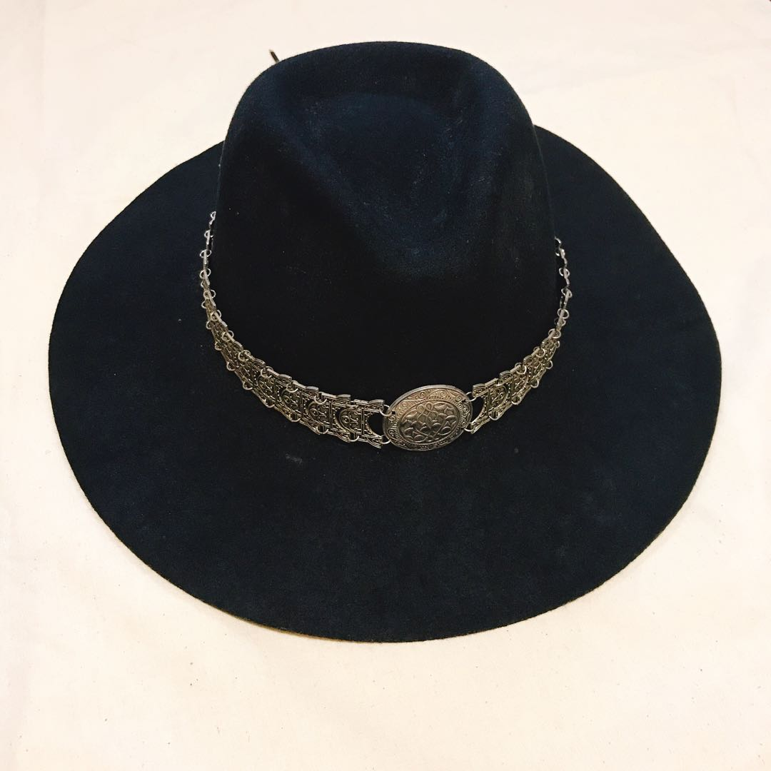 295f4d650abdc Brixton Black Felt Fedora DIY Cowboy Hat