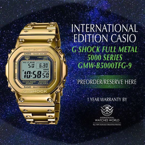 e37212d9d CASIO INTERNATIONAL EDITION G SHOCK 5000 SERIES FULL METAL 35TH ANNIVERSARY  LIMITED MODEL GMW-B5000TFG-9, Men's Fashion, Watches on Carousell