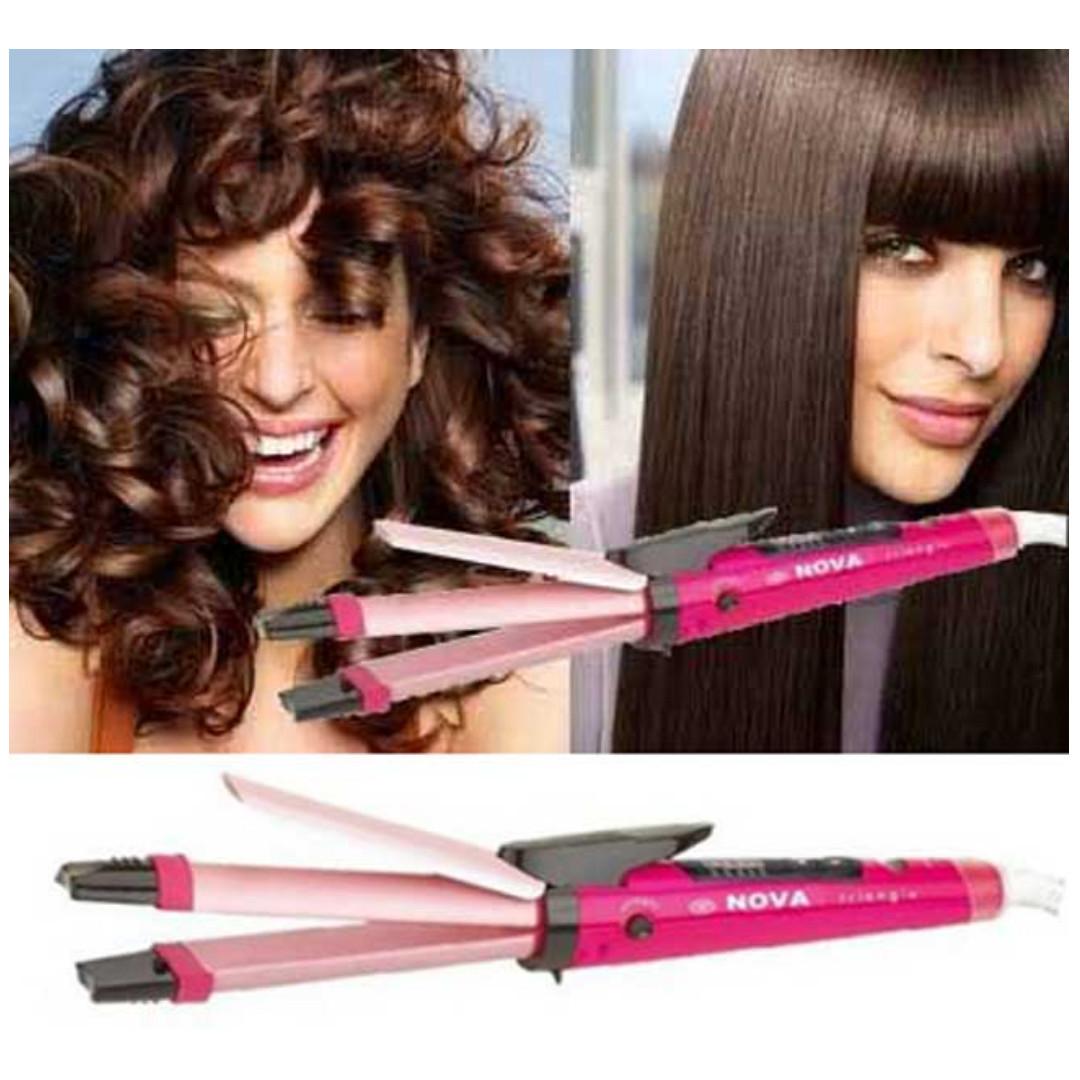 Catokan Nova 2 Fungsi Pelurus   Keriting Rambut Alat Salon Hair ... dba2eed75d