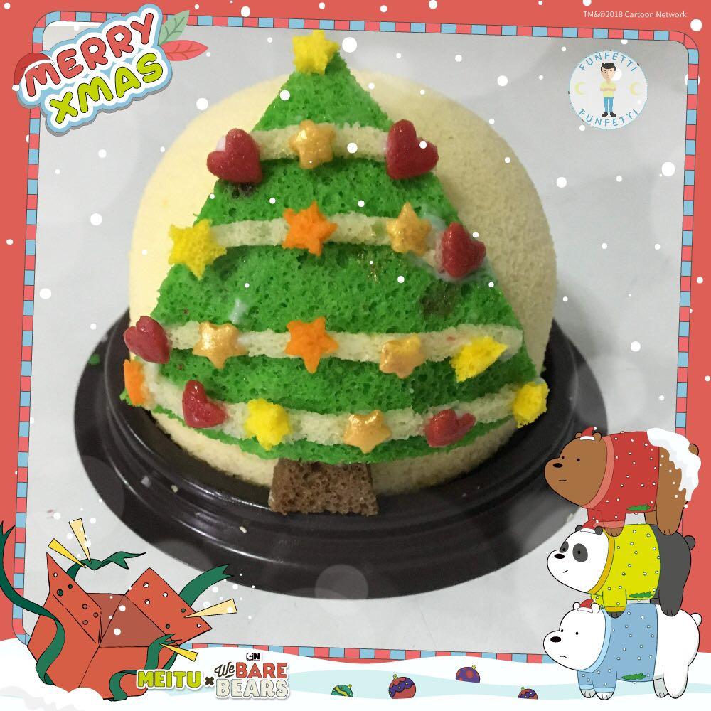 Christmas Tree Palm Chiffon Cake Wholesale Food Drinks Baked