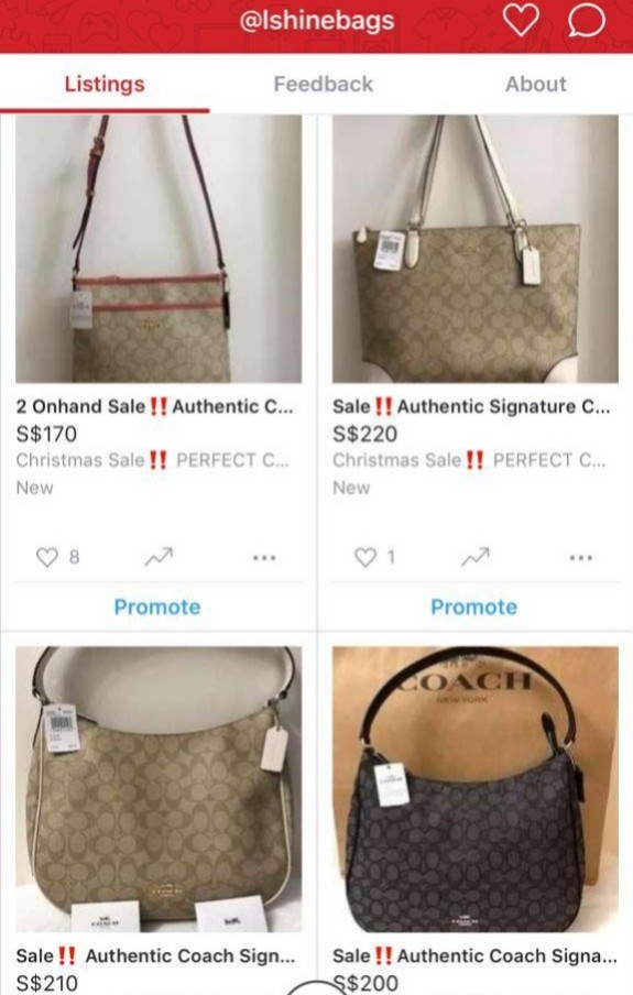 977d535276d Coach Bags for SALE!, Women's Fashion, Bags & Wallets, Handbags on ...