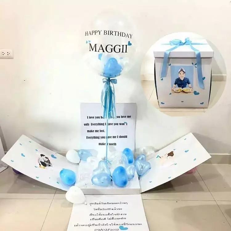 Creative Surprise Balloon Box Ball Birthday Gift Proposal Confessional Romantic Everything Else On Carousell