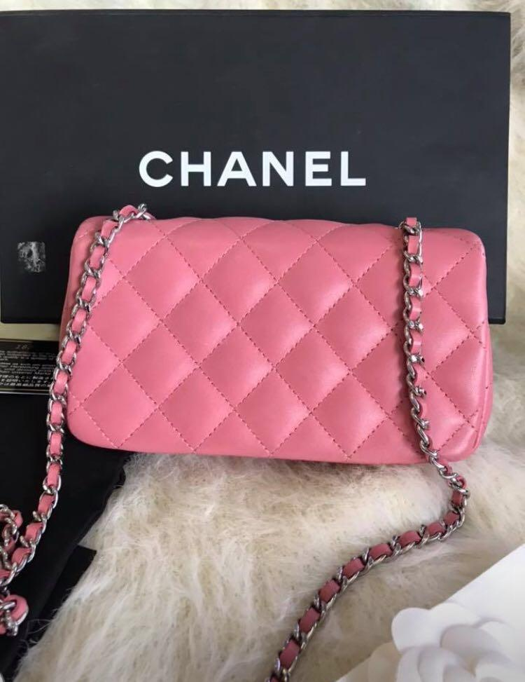 FAST SALE!!!! Chanel mini rectangular light pink like new #18