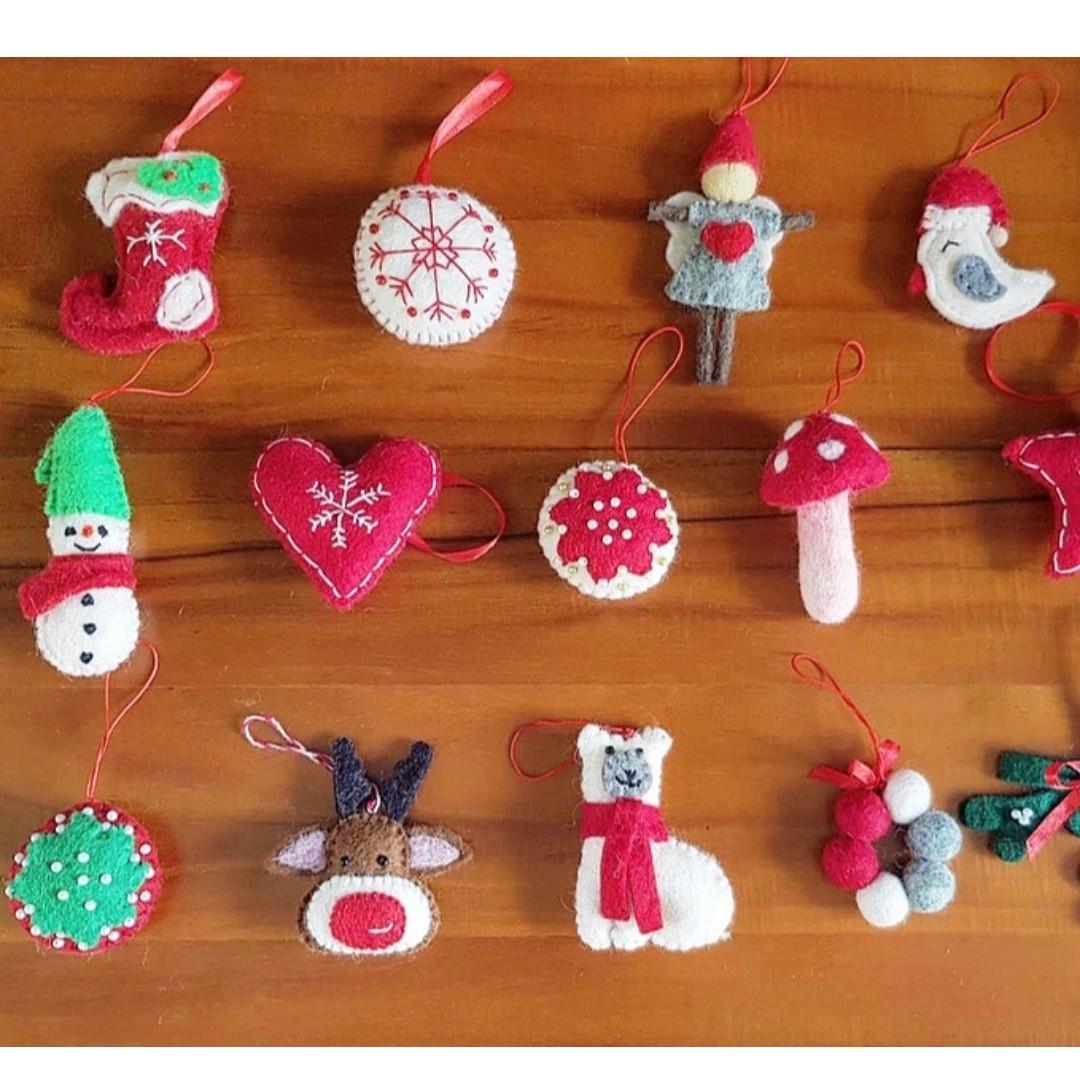 Felt Christmas Ornaments.Felt Christmas Ornament Decor Decorations Christmas Tree
