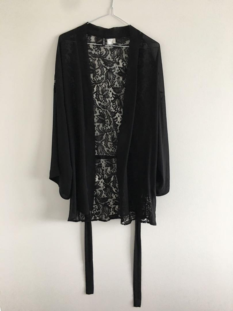 H&M Lace Back Kimono