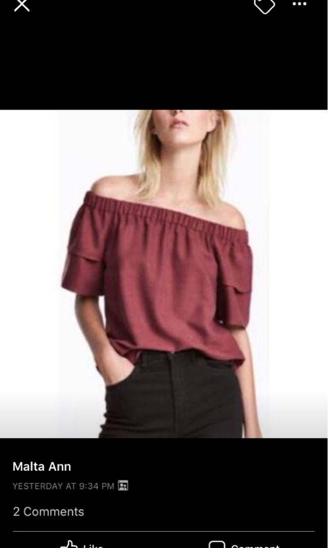 1f091991752 H&M off shoulder top, Women's Fashion, Clothes, Tops on Carousell