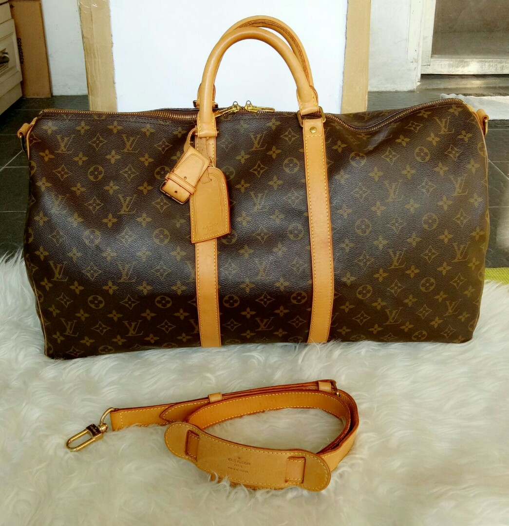 160c970d572a Jual Tas Louis Vuitton Keepall 55 Original Second Preloved Authentic ...