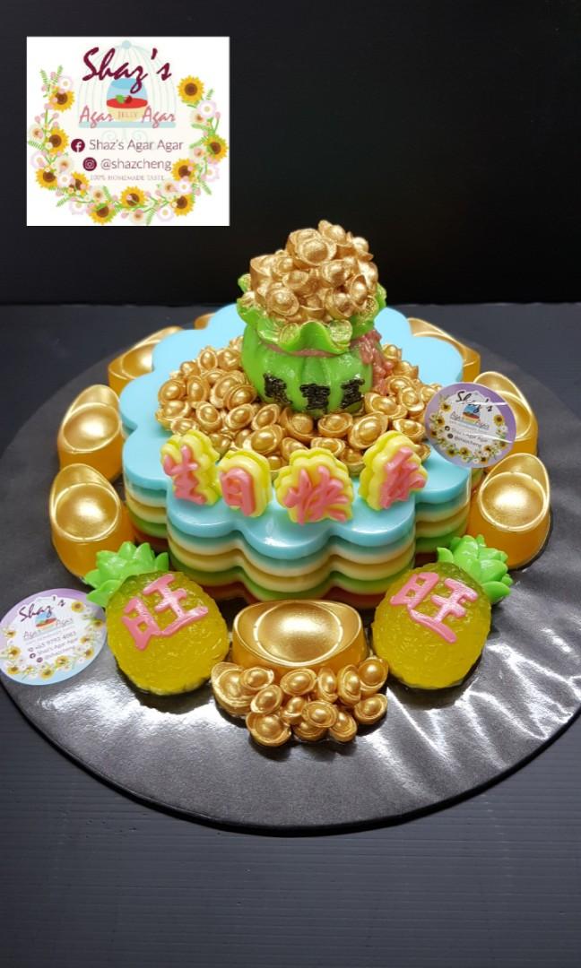 Money Bag Theme Agar Jelly Birthday Cake Food Drinks Baked