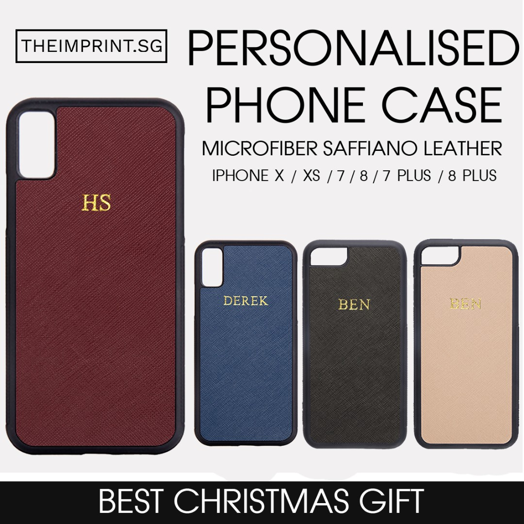 7a24c083cc 🎄Personalised Saffiano Leather Phone Case With Name, Mobile Phones ...