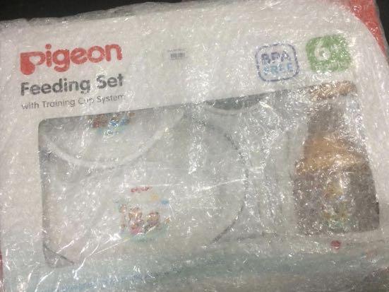 Pigeon feeding set with training cup system, Babies & Kids, Nursing & Feeding on Carousell