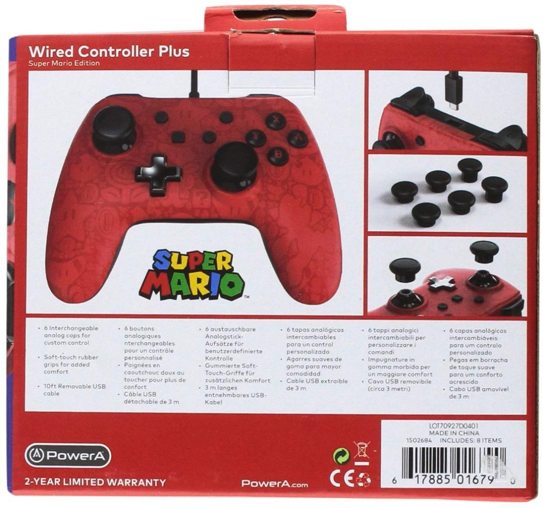PowerA Wired Controller Plus - Super Mario - Nintendo Switch (Red)