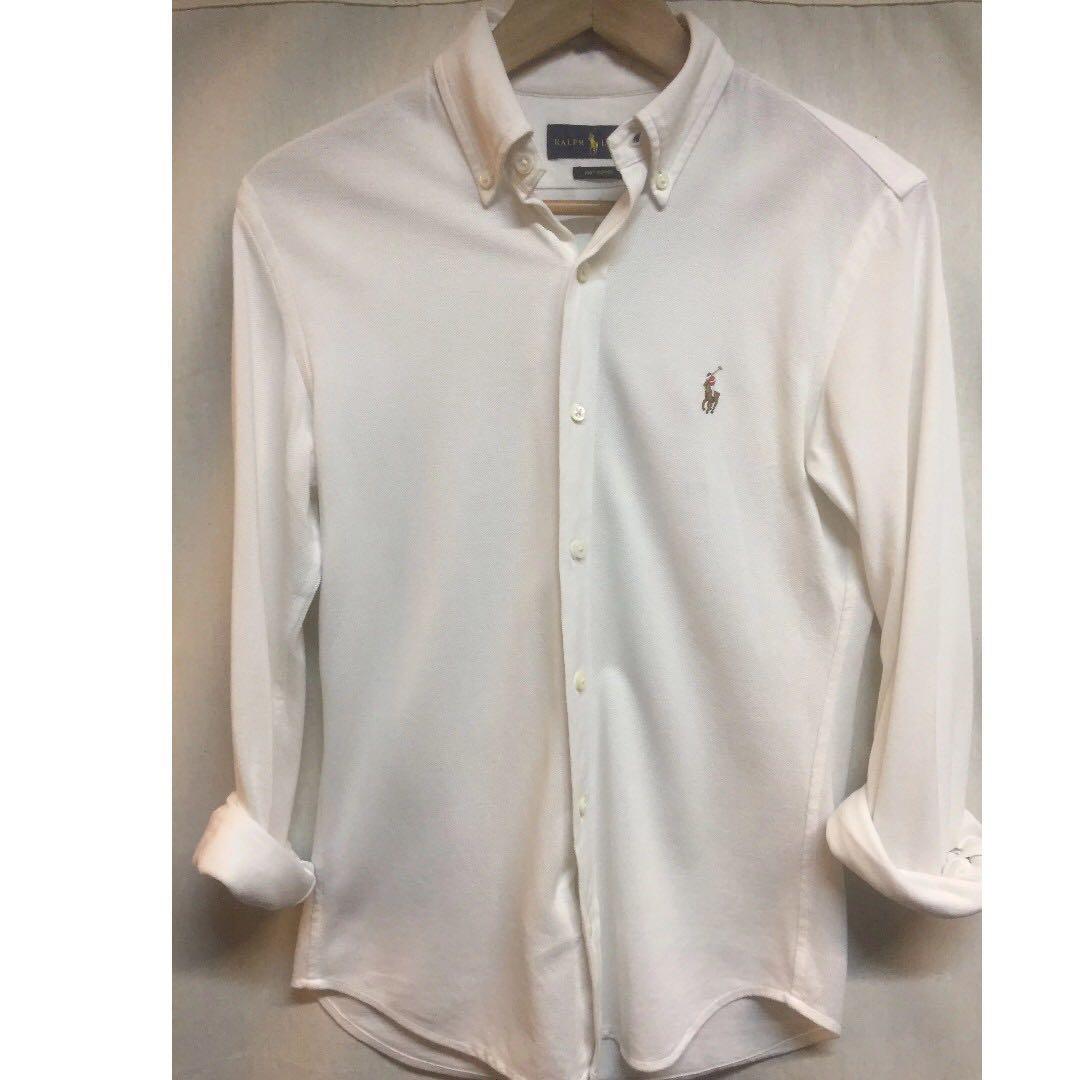 7e37e35b Ralph Lauren Long Sleeve Shirt - Oxford Knit White Color, Men's Fashion,  Clothes, Tops on Carousell
