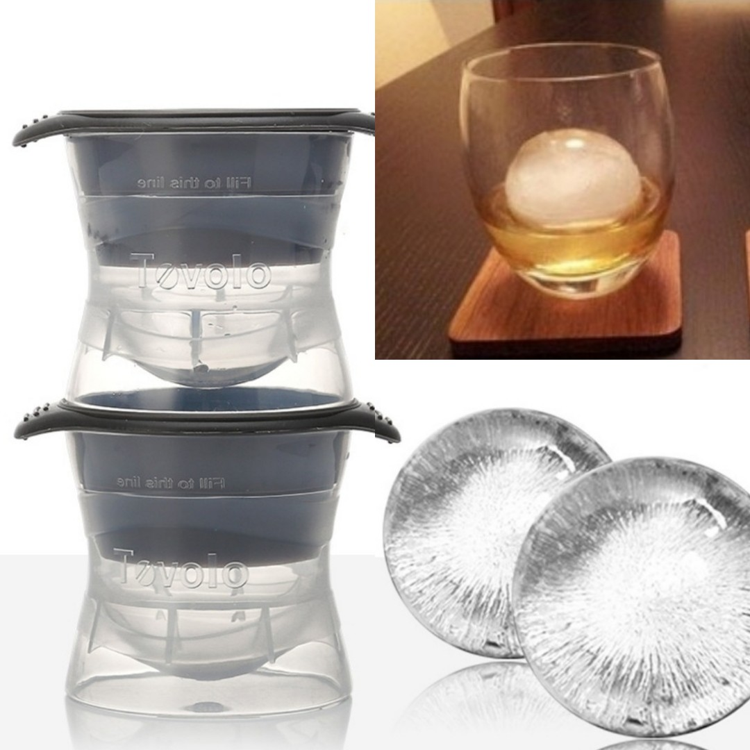 Ice Ball Mold Mould Maker Chilled Sake Chiller Snowballs Snowball Snow Ball  Balls Fridge Bartender Father Mocktail Cocktail Iceball Beer Whisky