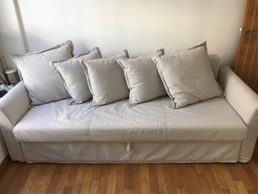 Sofa Bed Ikea Holmsund 3 Seat Furniture Sofas On Carousell