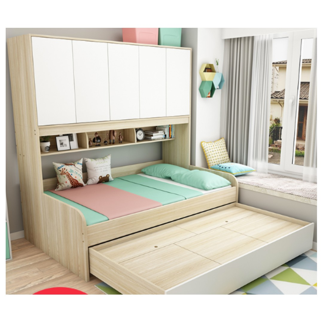Picture of: Storage Pull Out Bed Furniture Beds Mattresses On Carousell