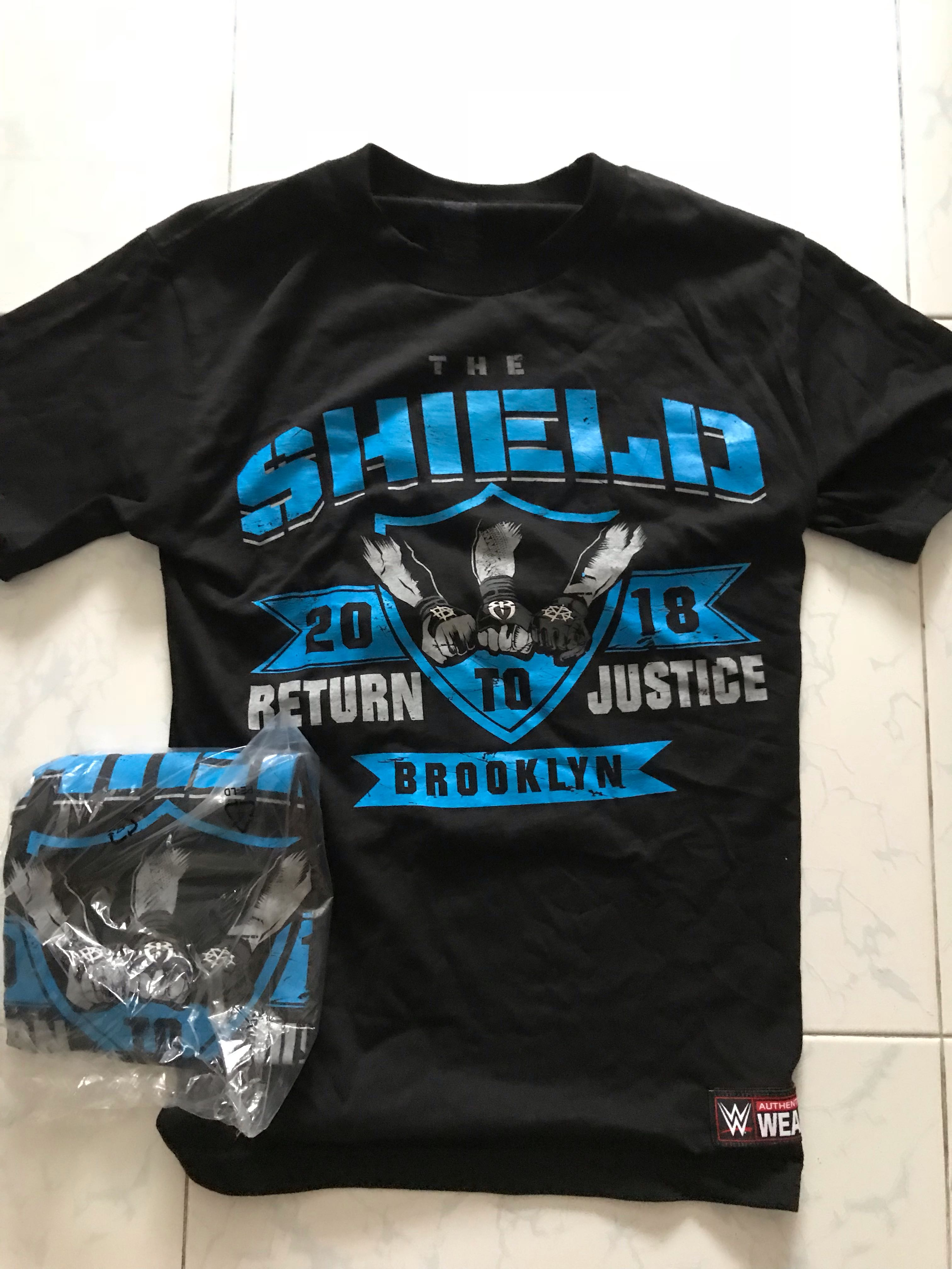 "4de4dc93 The Shield ""Justice Has Returned"" WWE Special tshirt, Men's Fashion,  Clothes, Tops on Carousell"