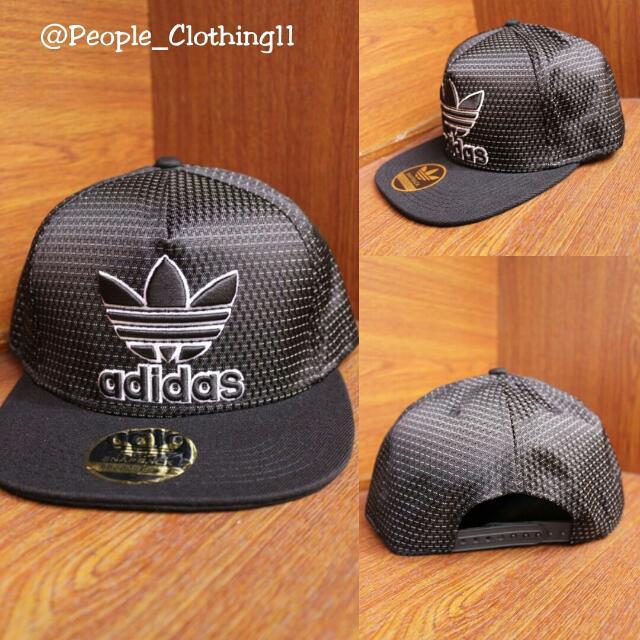 ae397f2e73e1b Topi Snapback Import Adidas Lurik Black