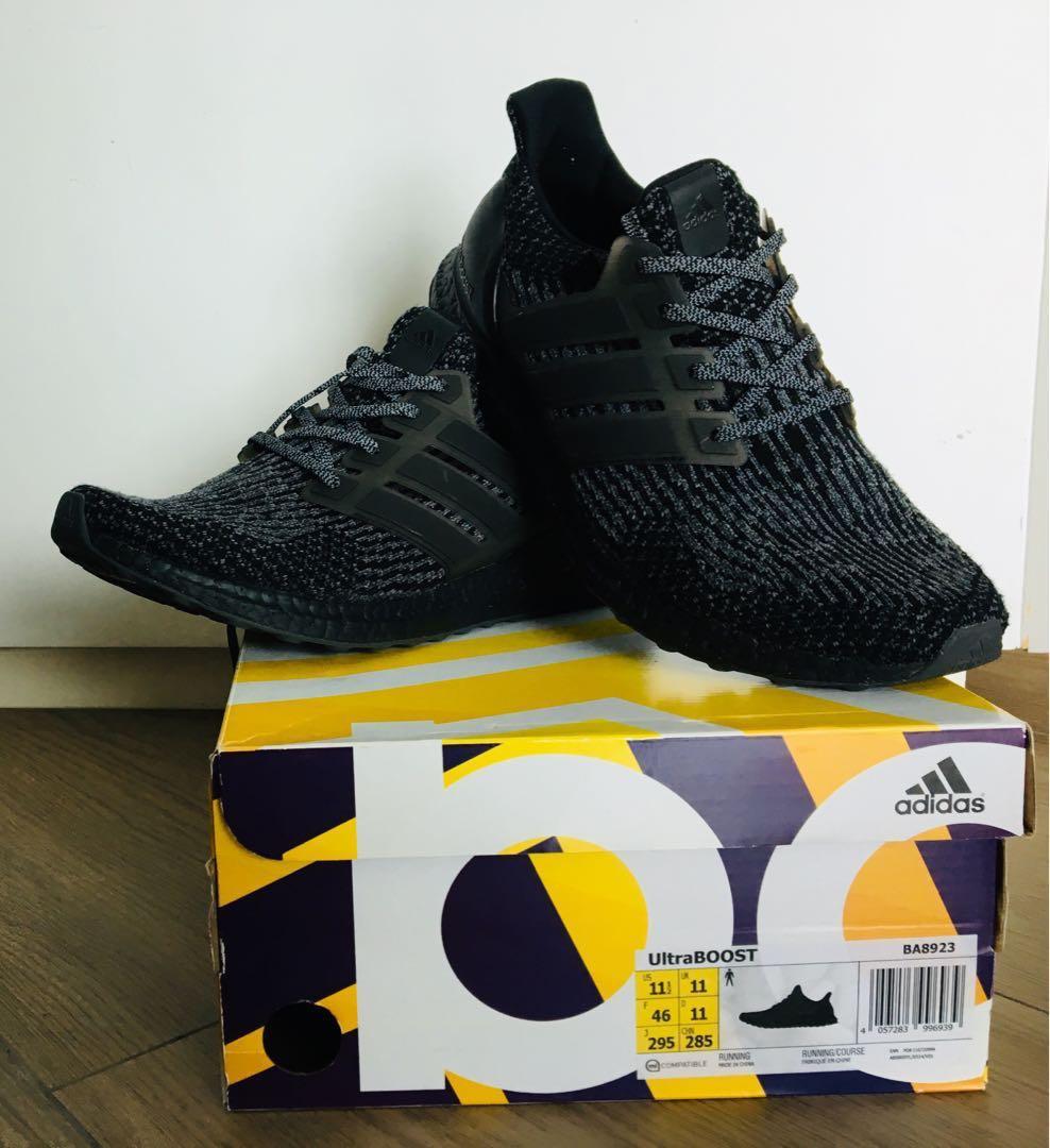4040ce2ff9788 TRIPLE BLACK Adidas Ultra Boost 3.0
