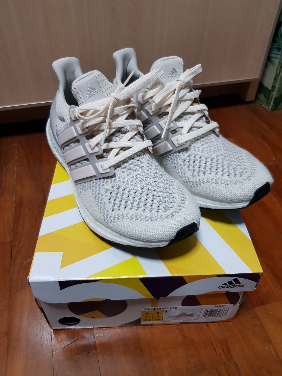 60956842114 US8.5 Adidas Ultra Boost LTD  Cream Chalk  2018