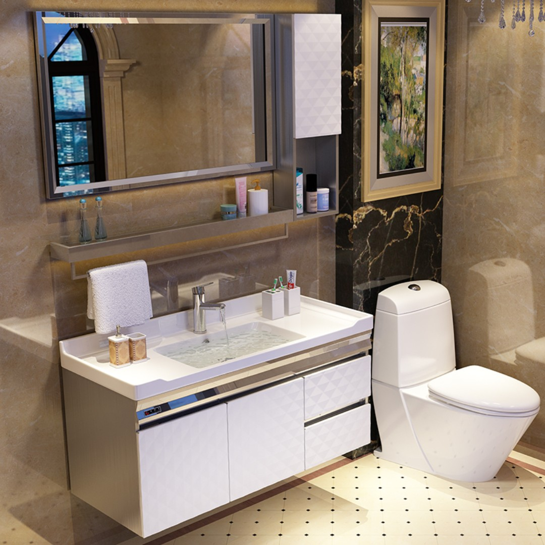 Vanity Cabinet Top And Basin