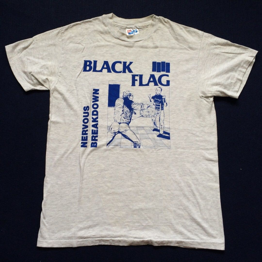 dfc596943 Vintage Black Flag Nervous Breakdown 90s 80s Rare T Shirt, Men's Fashion,  Clothes, Tops on Carousell