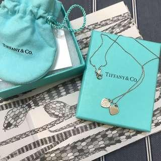 Tiffany經典雙心項鍊