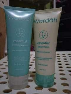 WARDAH essential facial mask + peeling cream. Isi 70%.