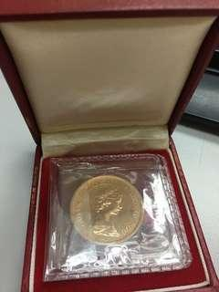 龍年紀念金幤「香港政府發行,未使用」