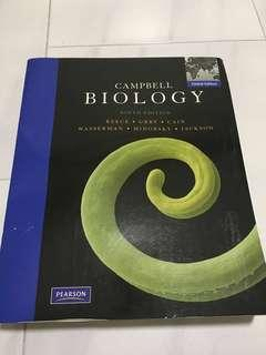 Campbell Biology Ninth Edition by Reece, Urdu, Cain, Wasserman, Minorsky and Jackson