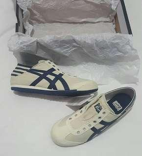 Onitsuka tiger slip on paraty cream nevy white