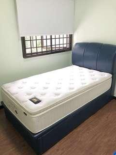 Super Single Storage Bed and Mattress