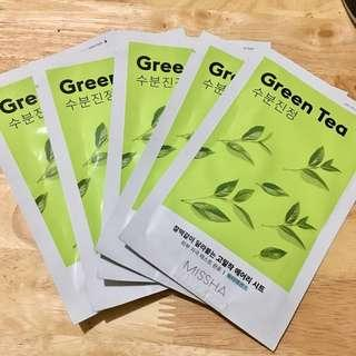 Missha Green tea Mask