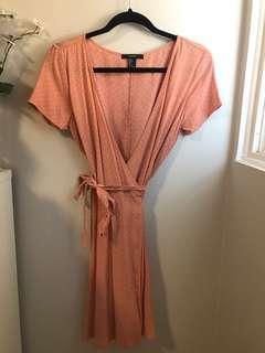 Pink Polka Dot Forever 21 Wrap Dress