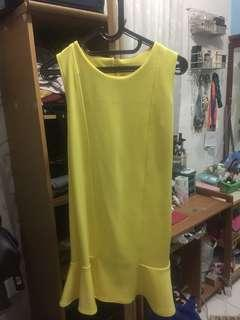 Dress mermaid yellow / kuning